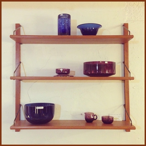 1960s Danish Teak Mounted Shelf
