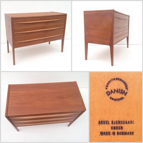Small Teak Drawer Unit by Kjersgaard