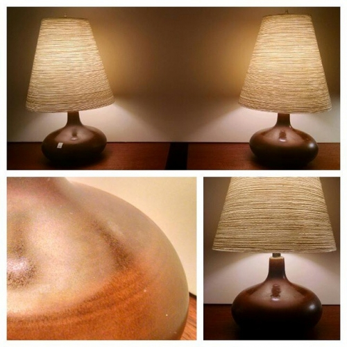 Pair of Lotte Lamps in Brown