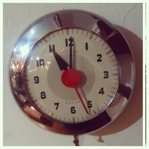 Chrome Kitchen Clock