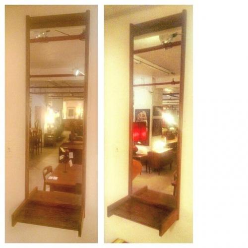 Swedish Mirror with Shelf