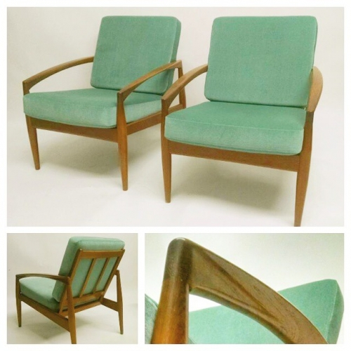Pair of Kai Kristiansen Lounge Chairs