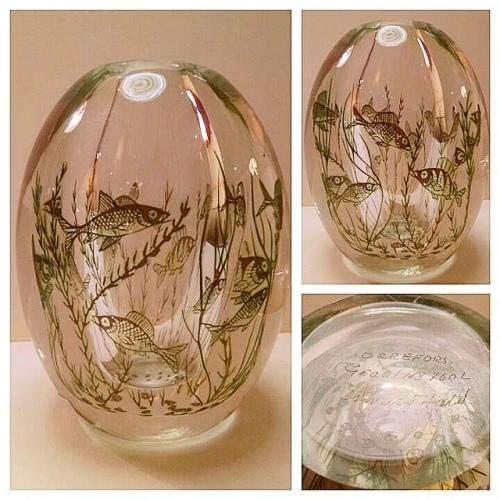 Orrefors Fishgraal Vase