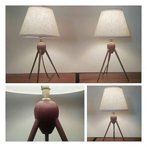 Pair of Danish Tripod Lamps