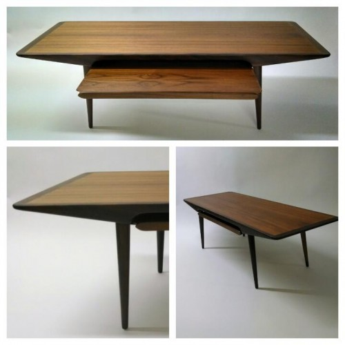 Sliding Shelf Teak Coffee Table