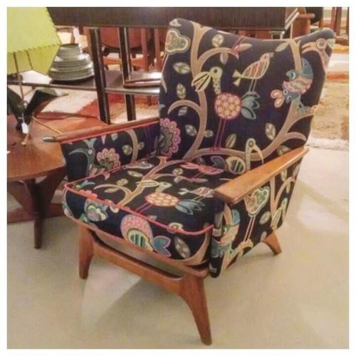 Walnut Lounge Chair
