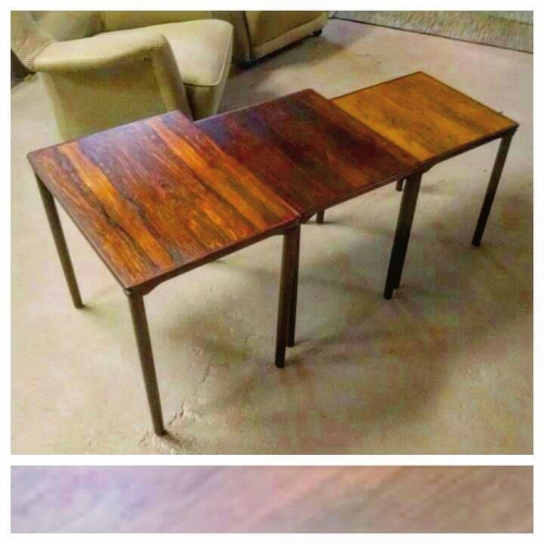 1960's Rosewood Nesting Tables