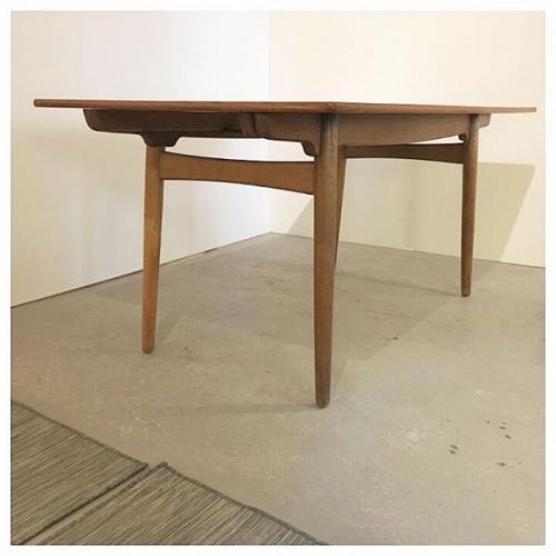 Teak and Oak Table by Hans Wegner