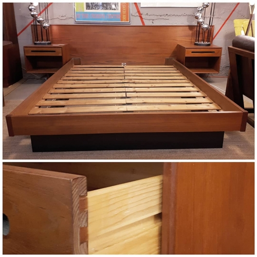 Westnofa Teak Queen Platform Bed