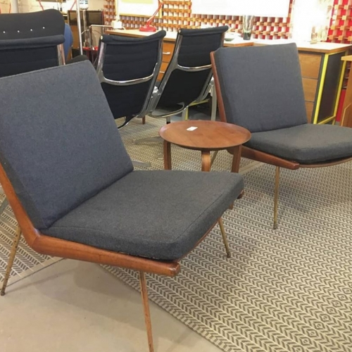 Pair of Boomerang Chairs