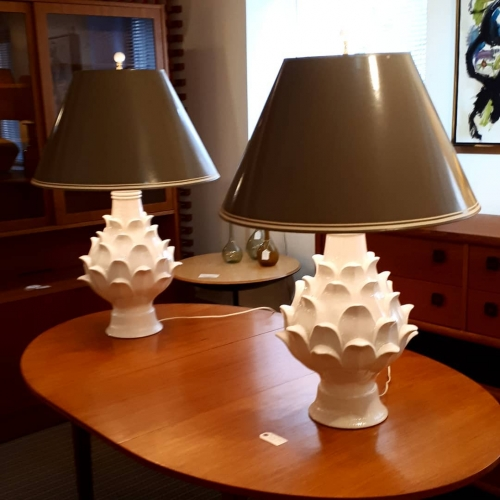 1970s Pottery Lamps