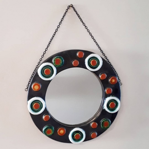 Ceramic Framed Mirror