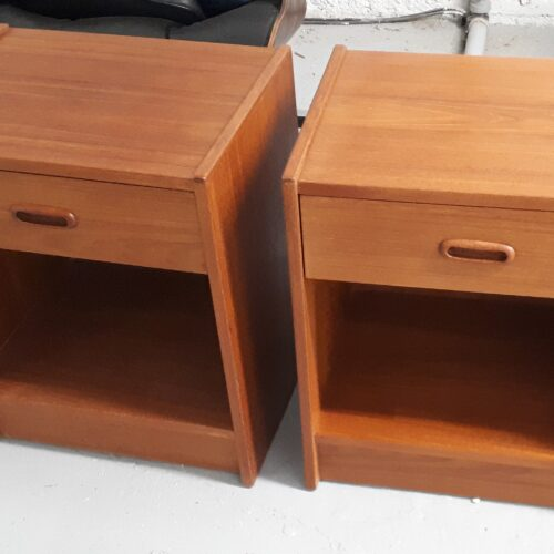 Pair of Teak Nightstands