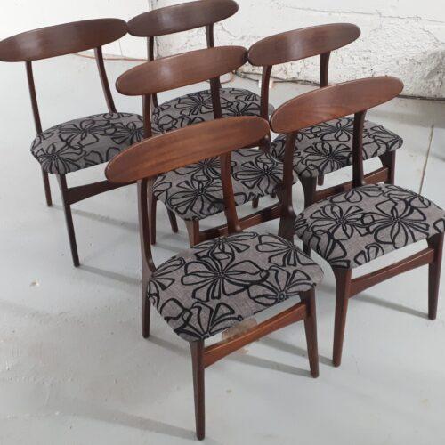 x6 Teak Side Chairs