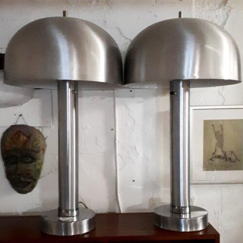 Pair of Mushroom Lamps