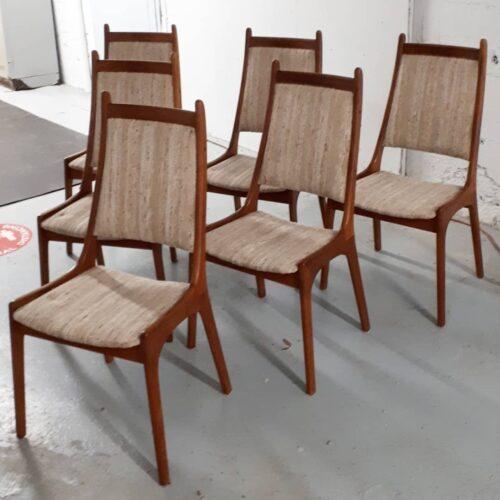 6 Teak Dining Chairs