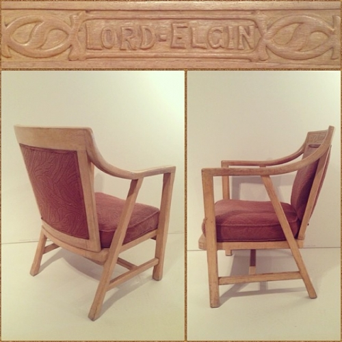 Rare Original L.E. Hotel Occasional Chair