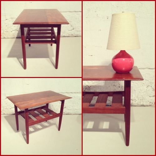 x2 Burma Teak End Table