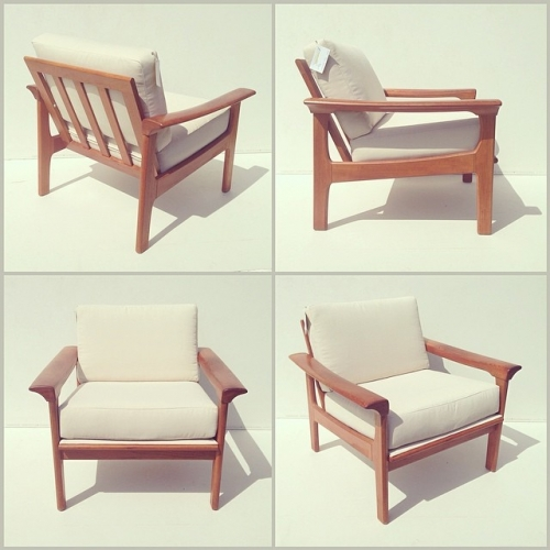 Teak Modular Lounge Chair w/ Arms