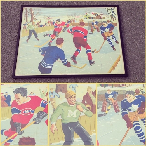 1947 Hockey Silkscreen