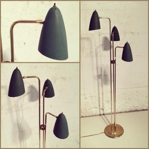 60s Brass Floor Lamp